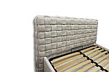 Кровать-подиум Квадро Люкс Sofyno на ламелях с высоким изголовьем, фото 7