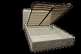 Кровать-подиум Квадро Люкс Sofyno на ламелях с высоким изголовьем, фото 8