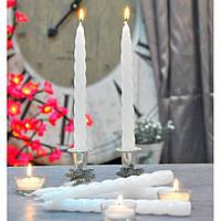 Свеча витая столовая SW090, набор из 2 шт, диаметр - 21 мм, высота - 220 мм, вес - 55 гр, свадебные аксессуары, декор для свадьбы, аксессуары для