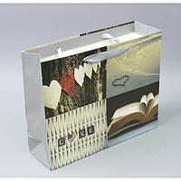 """Большой подарочный пакет """"С любовью"""" TF4131, 33*26.5*10 см, с ручками, Пакеты для подарка, Подарочные пакеты с ручками"""