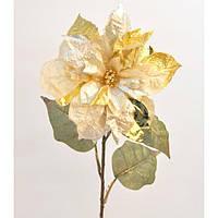 """Композиция цветочная для декора """"Новогодний цветок"""" XB1200, размер 70х20 см, декоративный цветок, искусственное растение, букет искусственных цветов"""