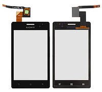 Sony Xperia GO ST27 Сенсорный экран  черный