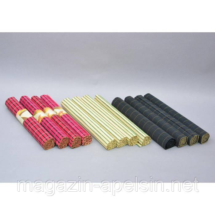 "Набор салфеток для сервировки стола ""Bamboo"" X104, размер 30х43.5 см, бамбук, в наборе 4 штуки, 4 вида, комплект салфеток, сервировочная салфетка - интернет-магазин ""Апельсин"" в Одессе"
