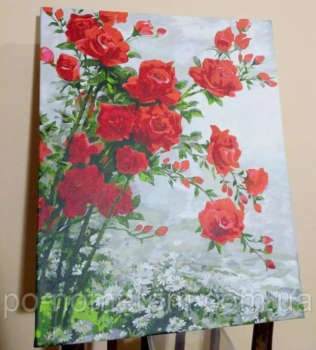 Картина по цифрам розы фото