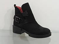 Стильные молодежные ботинки замшевые на байке, фото 1