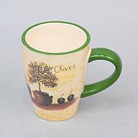 """Чашка керамическая для напитков """"Olives"""" ZL310, размер 10х12 см, чашка для чая, посуда для чая, чашка для кофе"""