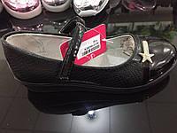 Чёрные туфли детские на платформе для девочек оптом Размеры 31-36