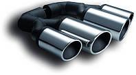 Насадки двойные на глушитель Volkswagen Touareg II (комплект) Ulter