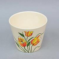 """Вазон керамический для цветов """"Tulips"""" FYS6941-2, размер 12х14 см, вазон для комнатных растений, горшок для растений"""