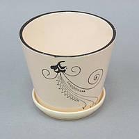 """Вазон керамический для цветов """"Beauty"""" FYS6915-2, размер 12х14 см, вазон для комнатных растений, горшок для растений"""