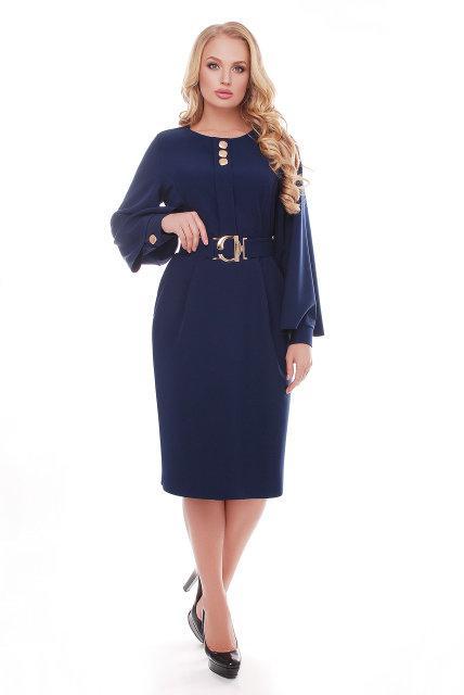 Красивое платье Екатерина темно-синий(52-58)