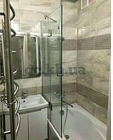 Шторка на ванну фронтальная (крепление двери к стеклу)