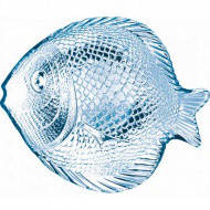 Блюдо стекл. 26х21см.Рыбка(набор-6шт)