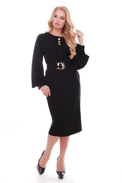 Красивое платье Екатерина черный(52-58)