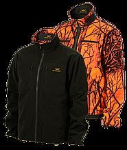 Флисовая куртка Jahti Jakt Reversible NoWind Fleece Jacket Green/Safety Camo