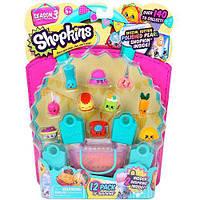 Набор фигурок SHOPKINS S3 - 12 ДРУЗЕЙ ШОПКИНС (12 шопкинсов, 4 сумочки, корзинка) ТМ Shopkins&Shoppies 56031