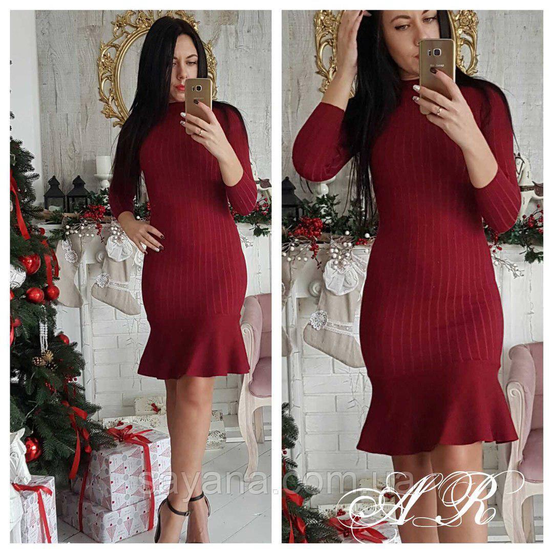 Женское стильное силуэтное платье, в расцветках. АР-21-0218