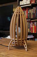 """Настольная лампа, светильник деревянній """"Ракета"""", фото 1"""