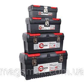 Комплект ящиков для инструментов с металлическим замком INTERTOOL BX-0004