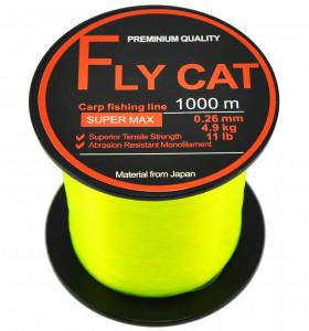 Волосінь NTEC Fly Cat Fluro Yellow 1000м, Ø0.28мм, 12lb/5.45 кг