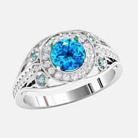 Кольцо  женское серебряное Очарование КЕ1533