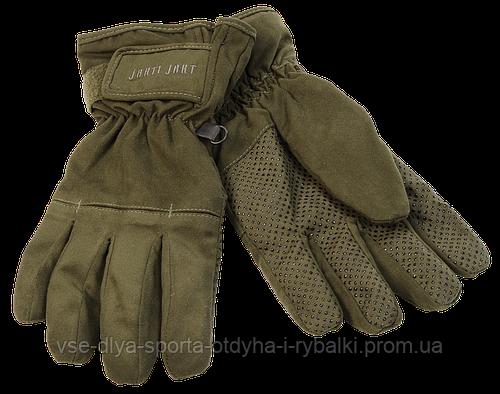 Перчатки Jahti Jakt Tundra с мембраной цвет черный или зеленый
