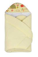 Конверт - одеяло для новорожденного с капюшоном Махровый