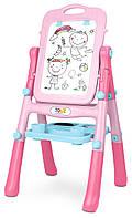 Детский мольберт для рисования Caretero Pink