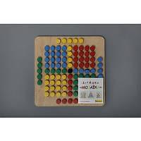 Детская деревянная мозаика 101 деталь Komarovtoys (А 343)
