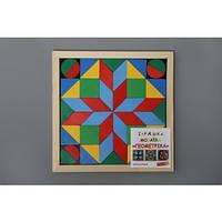 Детская деревянная мозаика Геометрика 4 фигуры Komarovtoys (А 346)