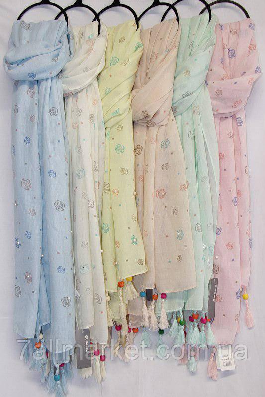 6bf7efe738618 Шарф-палантин женский с кисточками, размер 90*180 см (6 цветов ...
