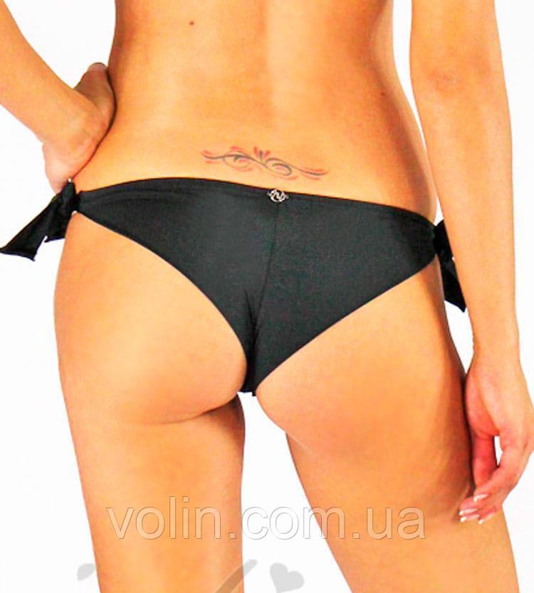 02be064fde219 Женские плавки бразилиано на завязках от Madora 46(L), чёрный - Интернет-