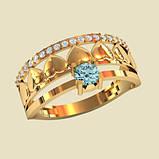 Кольцо  женское серебряное Сердечки КЕ-1518, фото 2