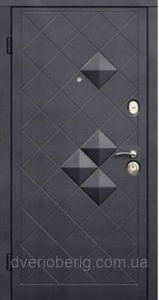 Входная дверь модель пирамидки венге (тройной притвор), фото 2