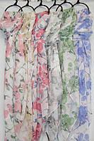 """Шарф-палантин женский яркий с цветами, размер 90*180 см (6 цветов) Серии """"AURA"""" купить оптом в Одессе на 7 км, фото 1"""