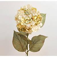 """Композиция цветочная для декора """"Новогодний цветок"""" XB1197, размер 70х17 см, декоративный цветок, искусственное растение, букет искусственных цветов"""