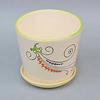 """Вазон керамический для цветов """"Fleur"""" FYS6915-3, размер 15х16 см, вазон для комнатных растений, горшок для растений"""