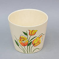 """Вазон керамический для цветов """"Tulips"""" FYS6941-3, размер 14х16 см, вазон для комнатных растений, горшок для растений"""