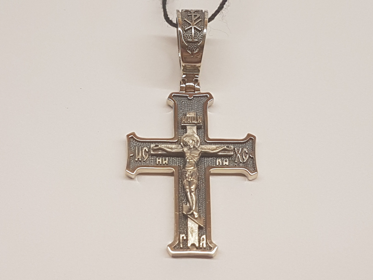 Золотой крестик. Распятие Христа. Артикул 11541-ЧБЕЛ