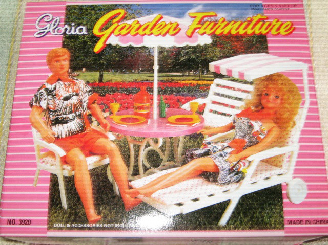 Кукольная мебель Глория Gloria 3920 Садовая мебель Пикник