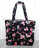 Пляжная, городская сумка с принтом птички