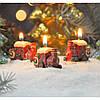 """Свеча для праздничного интерьера """"Паравозики"""" N7125, 4.5*4 см, из 6 шт, Свеча-фигурка, Свечки для Нового Года, Праздничные свечи"""