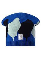 Демисезонная шапка-бини для мальчика Reima Pulpo 528574-6641. Размеры 48-54.