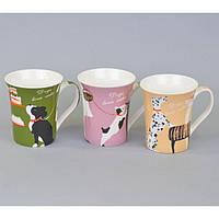 """Чашка керамическая для напитков """"Собака"""" CB408, размер 10х9 см, 4 вида, в коробке, чашка для чая, посуда для чая"""