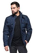 Мужская стеганная деми куртка Марсель синий (48-56)