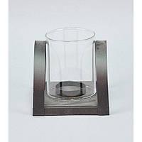 """Подсвечник декоративный для свечей """"High Tech"""" JK7177, металл / стекло, 11х10х10 см, 2 вида, подставка для свечи, подсвечник для декора, фото 1"""