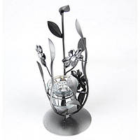 """Подсвечник декоративный для свечей """"Dark Flowers"""" FA6045-1, стекло, 27x6 см, подставка для свечи, подсвечник для декора"""