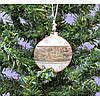 """Металлическая подвеска на елку """"Шар"""" KSN276, 9.5*8*1.5 см, Новогодние сувениры, Украшения новогодние, Игрушки на елку"""