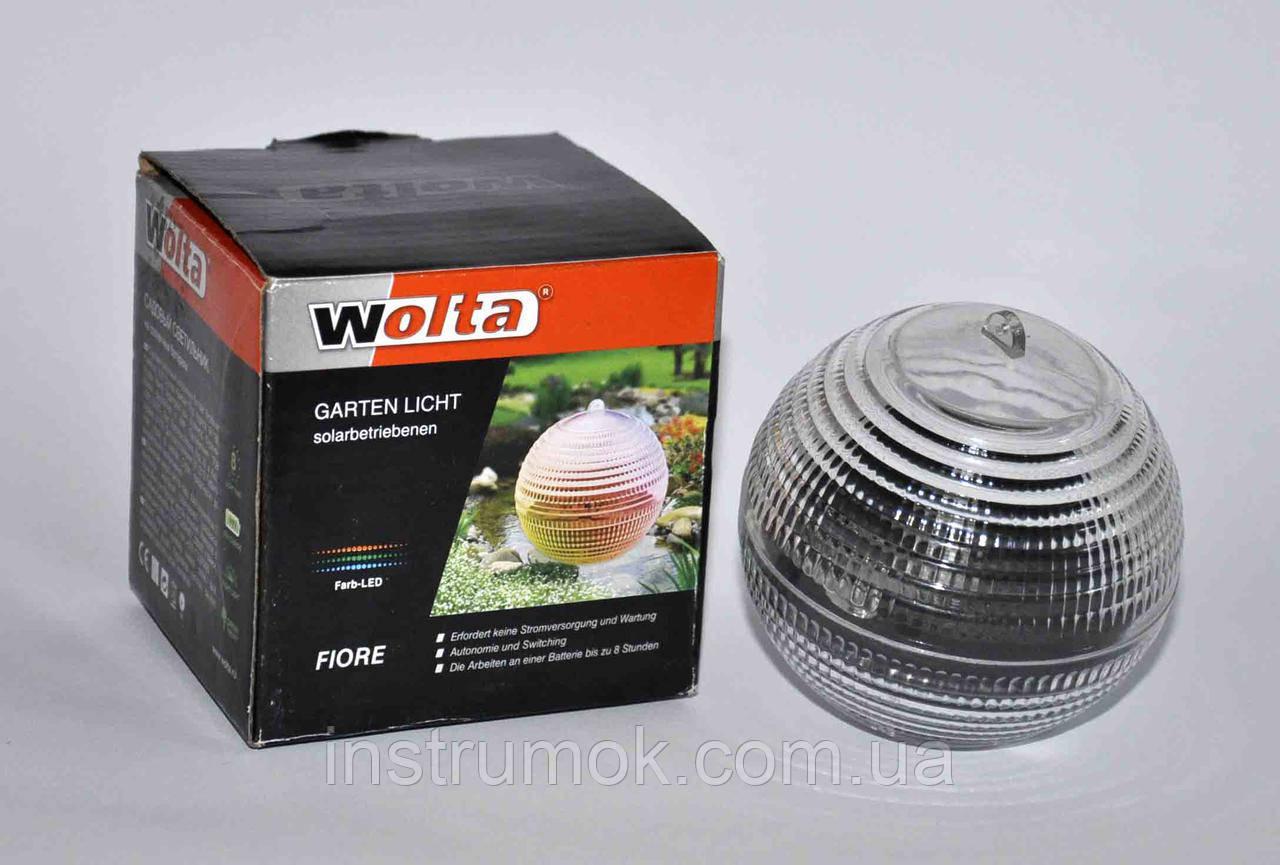 Садовый светильник (шарик) на солнечных батареях Fiore ТМ  Wolta - ИнструмОК в Харькове