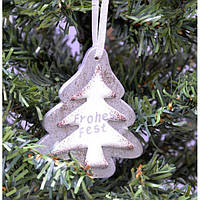 """Набор подвесок на елку """"Елочка"""" KSN235, 21*9.5*1 см, дерево, из 3 шт, Новогодние сувениры, Украшения новогодние, Игрушки на елку"""